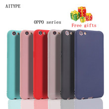 Original AITYPE mobile Phone Case Silicone For OPPO f9 k1 a3s f7/5 fx17 rx17 neo r17 pro TPU Bumper 360 protection Phone Cover(China)
