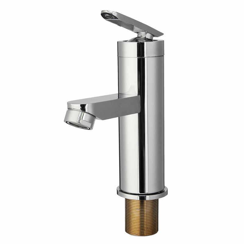 1 pçs mrosaa torneira do banheiro único punho quente & frio mixer torneira da bacia de lavagem deck montado torneiras água para cozinha banheiro