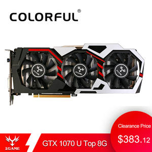 Colorful NVIDIA GeForce iGame GTX 1070 8 GB Video Card GPU GDDR5 256bit PCI-E VR