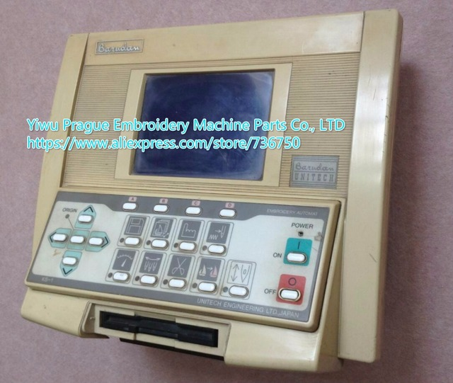 Used Embroidery Machines >> Original Used Barudan Embroidery Machine Control Panel Monitor