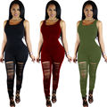 Fashion Women Casual Sleeveless Bodycon Jumpsuit Club Playsuits Ladies Skiny Bodysuits