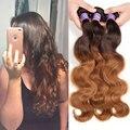 Kapelli Ombre Brazilian Hair Body Wave T4/30 Two Tone Ombre hair Brazilian Virgin Hair 8A Human Blonde Hair tissage bresilienne