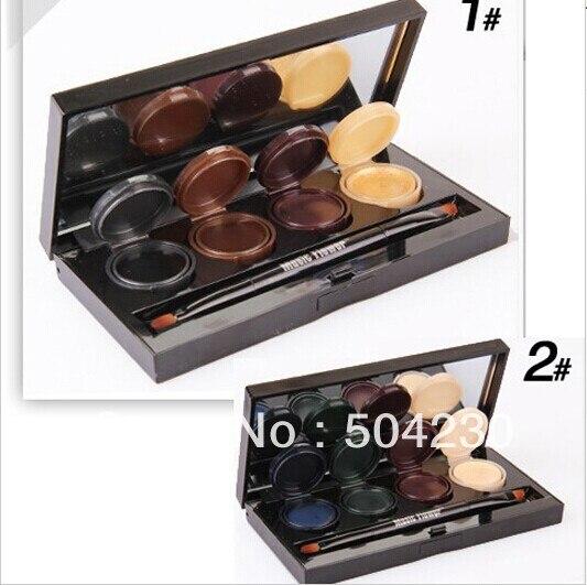 8 Color de Mineral Pigmento Delineador de ojos Crema de Sombra de Ojos Paleta Smoky paleta de sombra de Ojos Set de Maquillaje Con El Cepillo Al Por Mayor