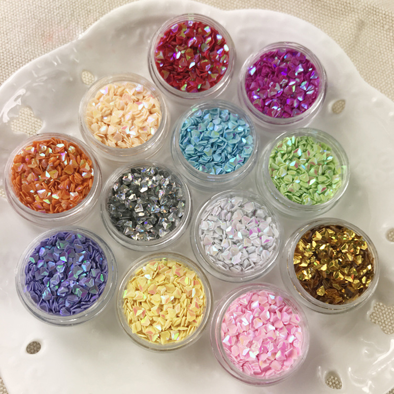 "Doreen Box Sweet PVC Resin Jewelry Tools DIY Making Craft Diamond-Shape AB Color Fashion Accessories 30mm(1 1/8"") Dia., 5 PCs"