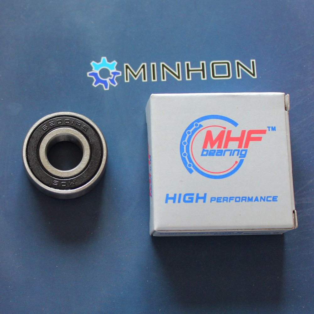 Free Shipping 2pcs 62001-2RS Miniature Ball Bearings Size 12*28*10 mm Best sale High Performance