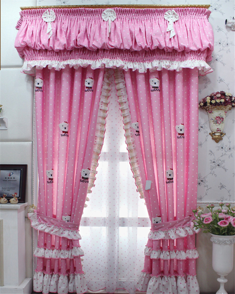 Pink bedroom curtain design - Customized Curtain Cute Cartoon Pink Princess Room Curtains Girl Child Bedroom Curtains E055 China