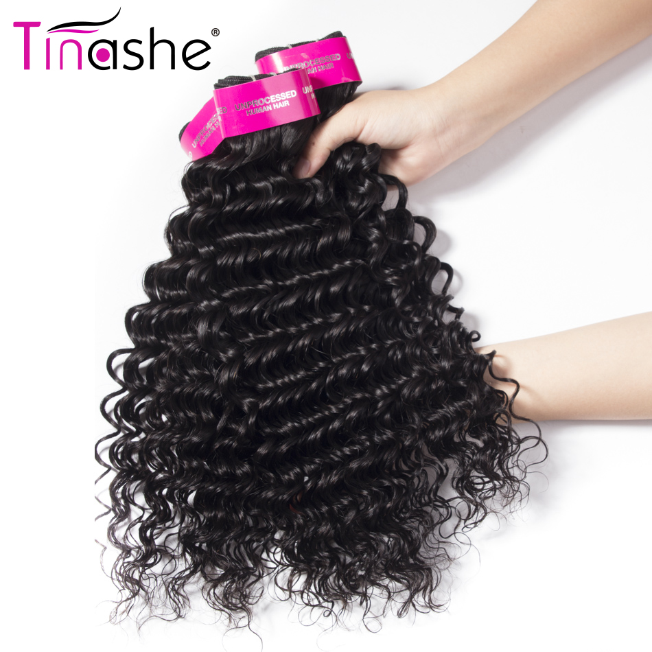 Tinashe Hair Deep Wave Bundles With Closure Brazilian Hair Weave Bundles With Closure Remy Human Hair 3 Bundles With Closure
