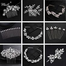 Miallo Fashion Rhinestone Headpiece Wedding Bridal Hair Accessories Austrian Crystal Hairpins Women Pins Clips Jewelry