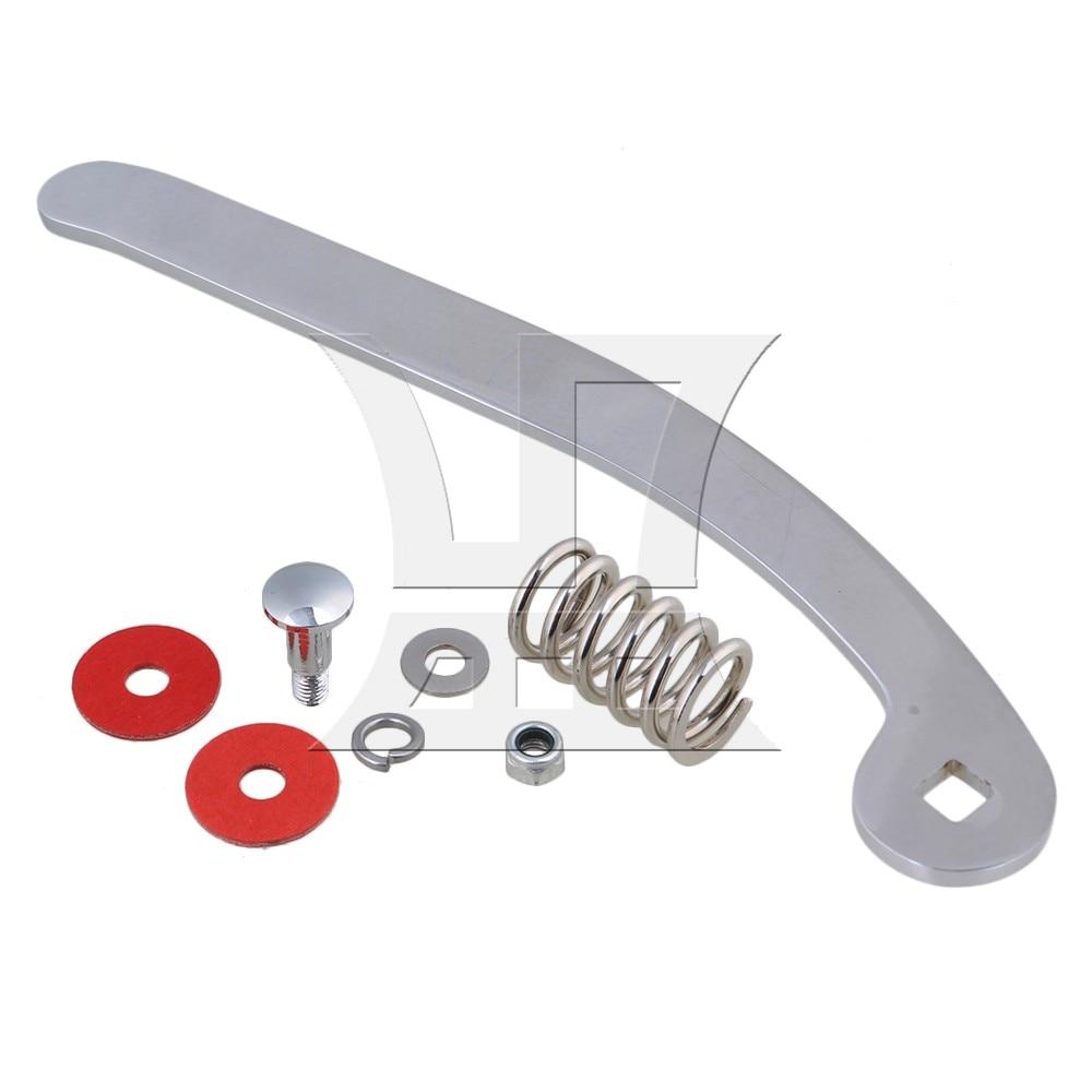 Yibuy Chrome Zinc Alloy Vibrato Bridge Tremolo System Arm Whammy Bar with Nut Spring for Electric Guitar цена