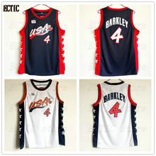d89c843d9fe 2018 New arrival Charles Barkley #4 USA Blue Retro Throwback 100% Stitched  Basketball Jersey Sewn Camisa Embroidery size S-XXL