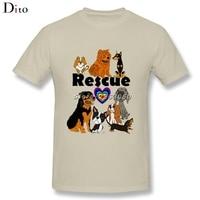 Rescue Dog Rottweiler Chow Chow T-Shirt Da Uomo Ragazzo Harajuku Personalizzata Manica Corta da uomo di Grandi Dimensioni di Boyfriend Magliette