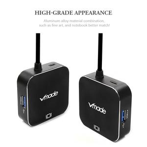 Image 5 - Vmade 최신 4 in 1 미니 어댑터 type c USB C 3.0 허브 hdmi 지원 오디오 및 비디오 전송 삼성 s8 용 미니 컨버터