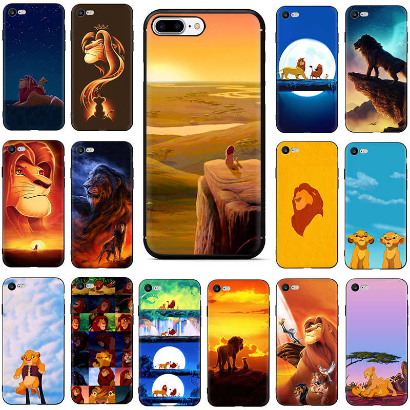 The Lion King soft silicone phone cover case for iphone 5 5s SE 6 6s 7 8 Plus X XR XS 11 pro Max
