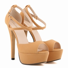 New 2016 Summer Rome Style Cross-Strap Sandal Fashion 14cm Gladiator Women Sandals Platform High Heels Women Shoes