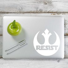 Rebel Alliance Resist Star Wars inspired Decal Sticker for Car Window, Laptop and More. # 1053 (4 x 3.9, White)
