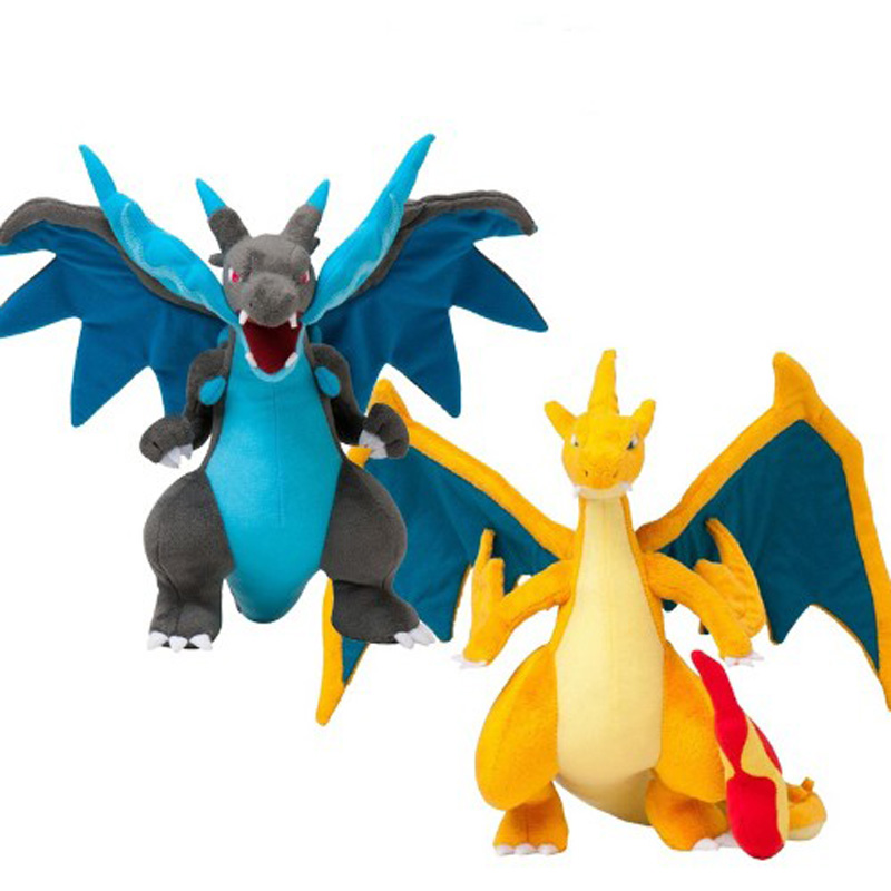 2 Styles Mega Charizard Plush Toys Charizard XY Plush Doll Stuffed Soft Good Quality Great Gift Free Shipping