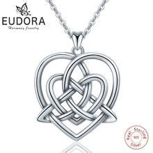 Ожерелье женское из серебра 925 пробы с треугольным кулоном