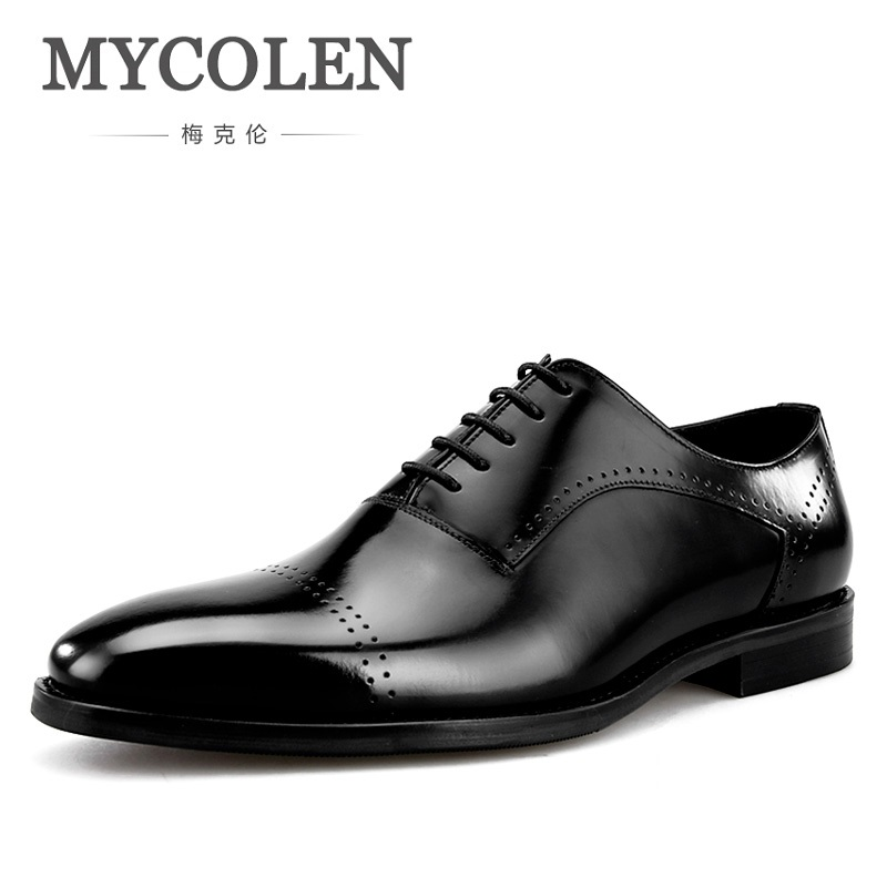 MYCOLEN New Fashion Brand Pointed Toe Shoes Business Men's Shoes Black/Brown Leather Cloth Elegant Design Man Shoes Sapatos brand design 2016 new man