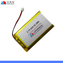 Shipping in 3.7V 6000mAh lithium polymer battery 3966125 V812 tablet computer. Rechargeable Li-ion Cell