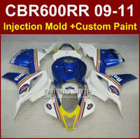 100% FIT Motorcycle fairings for HONDA CBR 600RR 09 10 11 CBR 600 RR Rothmans blue fairing kits 2009 2010 2011 cbr600rr +7gifts
