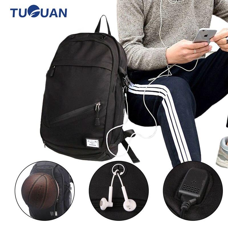 Sacs de sport pour hommes en plein air sacs à dos de basket-Ball sacs d'école pour adolescents garçons Pack de ballon de Football pochette d'ordinateur Football Net sac de sport