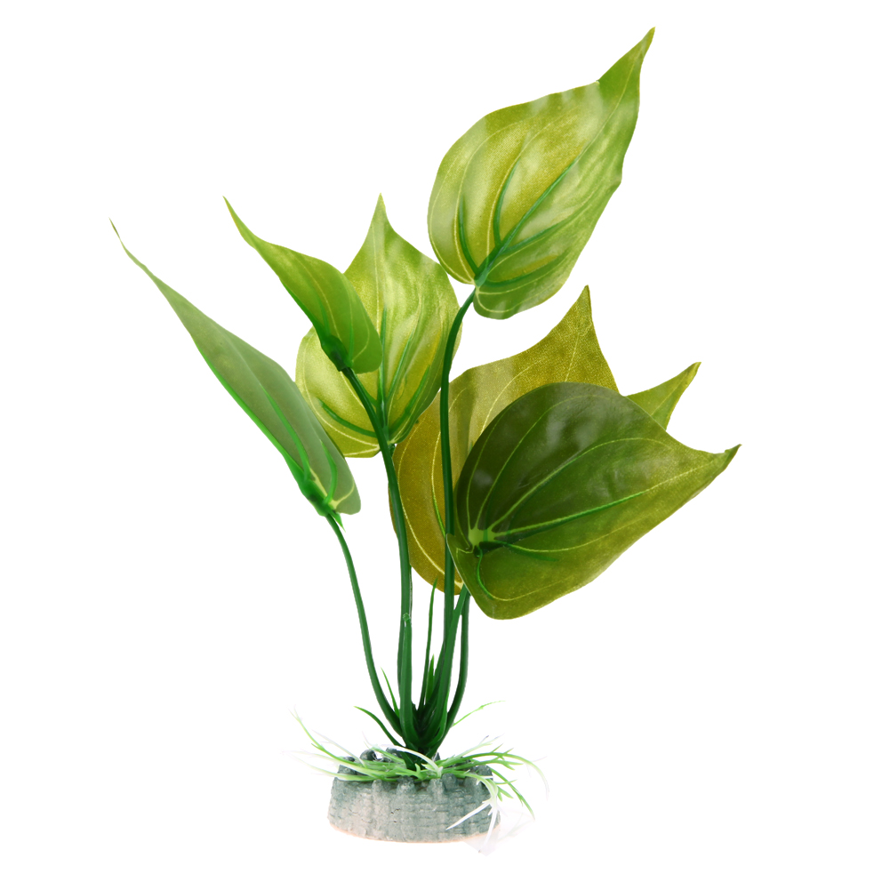 Fish aquarium plants artificial plastic green grass weed for Artificial fish pond plants