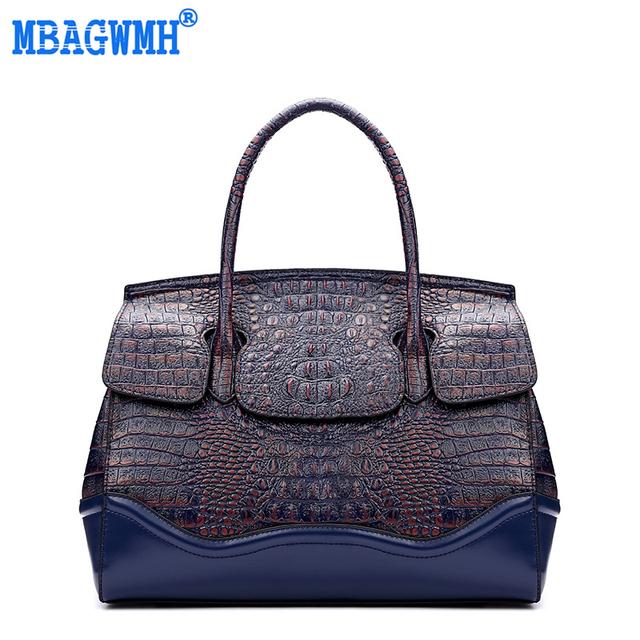 Hot 2017 Luxury Brand Women Leather Handbag Crocodile Bag Vintage Female Crocodile Shoulder Bags #EY551