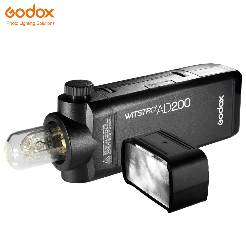 GODOX AD200 200Ws GN 60 TTL High Speed Sync Flash Strobe Built in 2 4G Wireless