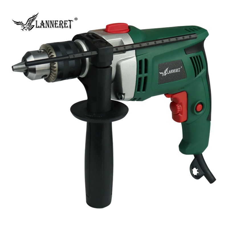 Фотография LANNERET ID710DL01 710W 13mm Speed Adjusable AC Electric Impact Drill Electric Hammer Drill Power Drill Woodworking Power Tool