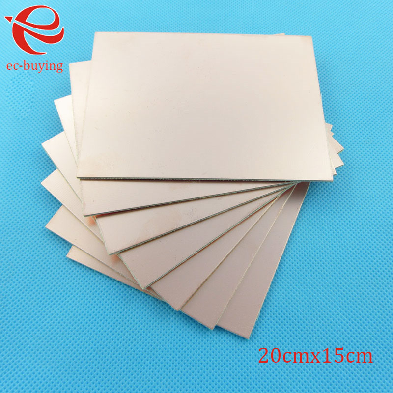 Image 3 - 10pcs/lot Copper Clad Laminate One Single Side Plate CCL 20x15cm 1.5mm FR 4 Universal Board Practice PCB DIY Kit 200*150*1.5mmSingle-Sided PCB   -