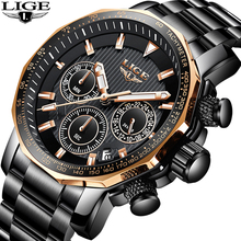 LIGE Men Watch Top Brand Luxury Waterproof Sport Watch Men Quartz Watches Business Fashion Large Dial Clock Relogio Masculino relogio masculino men watches lige top brand luxury fashion quartz clock men s business waterproof big dial military sport watch