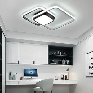 Image 5 - LICAN yatak odası oturma odası tavan ışıkları lampe plafond avize Modern LED tavan ışıkları uzaktan kumanda ile lamba