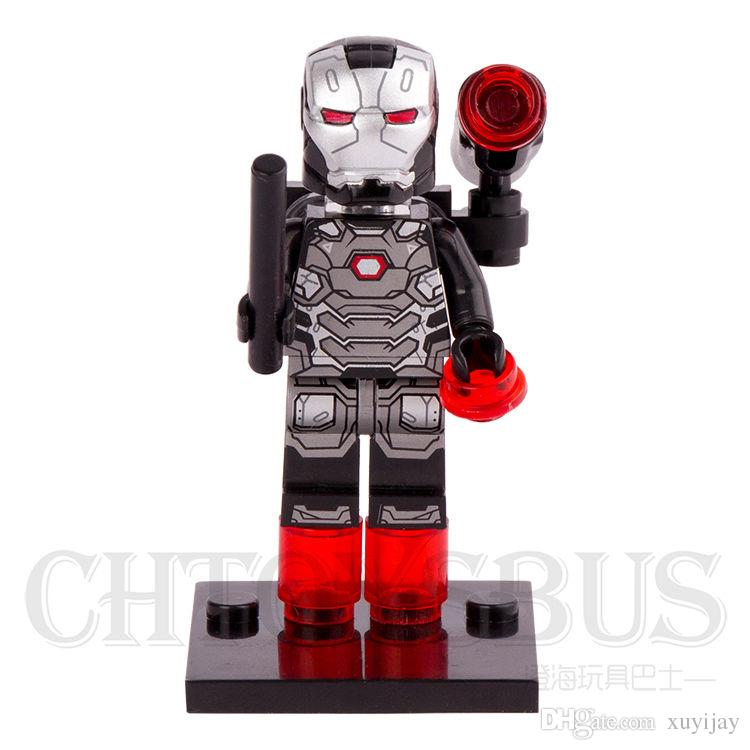 War Machine Marvel Superhero Mini Action Figure Toy Block Avengers Civil War
