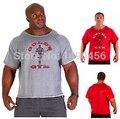 Academias Camisas dos homens novos, Golds NPC Powerhouse Desgaste Fitness & Musculação & Workout Roupas Terry Algodão de Alta Elástica T-Shirt