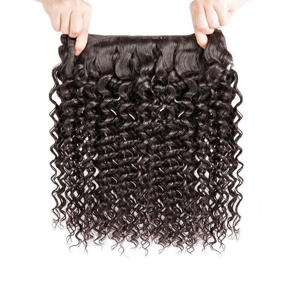 Stema малазийские Реми глубокая волна Булочки с закрытием волос 3 пучка с 4x4 волосы для наращивания расширение Бесплатная доставка