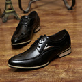 Fashion Men's Bussiness Oxford Men Leather Pointed Toe Classic Male Red White Derby Shoes