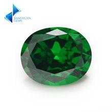 Размер 2x3 ~ 10x14 мм овальная форма 5a зеленый камень из фианита