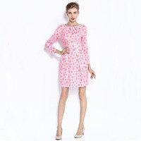 2015 Spring Summer New Arrived Pink Blue Dot Women Casual Dress Girl Cute S M L