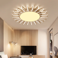 Dimming+Remote control living study room bedroom modern led chandelier White Blue Yellow Pinksurface mounted led chandelier