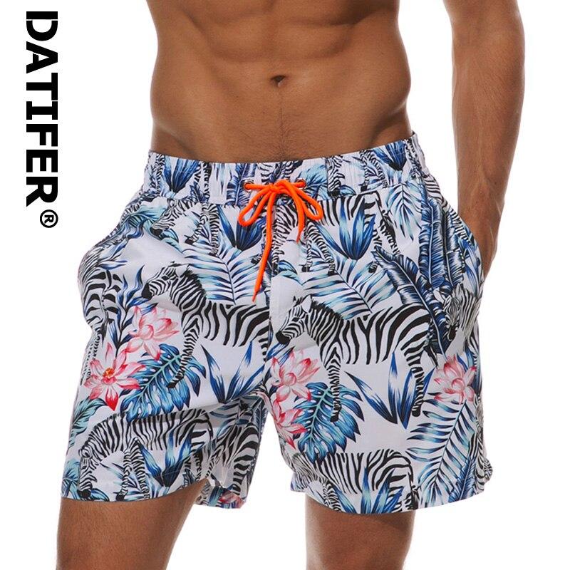 Datifer Quick Dry Swim Shorts Summer Mens Beach Board Shorts Surf Siwmwear For Men Athletic Gym Shorts