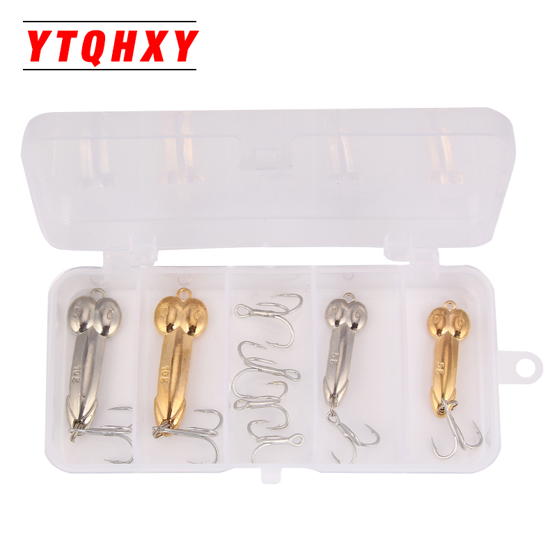 YTQHXY 4pcs/lot Fishing Lures DD Spoon Bait Metal Lure Kit iscas artificias Hard Bait 5g 10g Bass Pike Bait Fishing Geer YE-405 28pc lot fishing lure metal lure set spoon hard bait kit tackle accesseories iscas artificial fresh water bass pike fishing gear