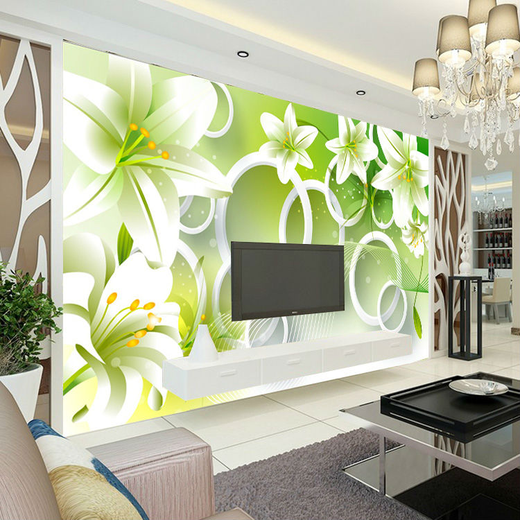 Elegant Lily Photo Wallpaper Flower Bedroom Kid Room Decor Club Wedding Decoration Fashion Design Wall Mural Nature In Wallpapers From Home