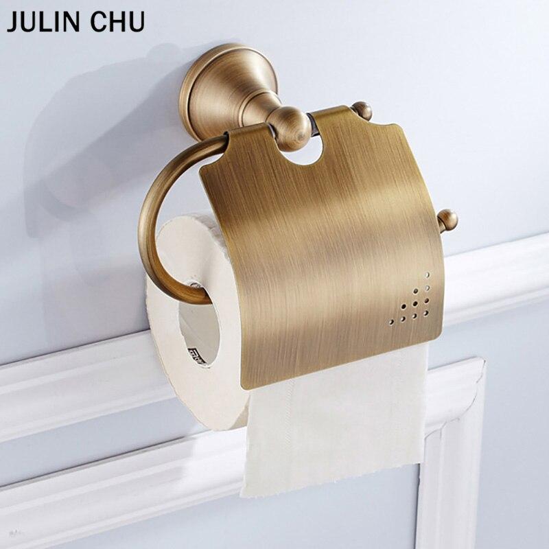 Toilet Roll Holder Bronze White Wc