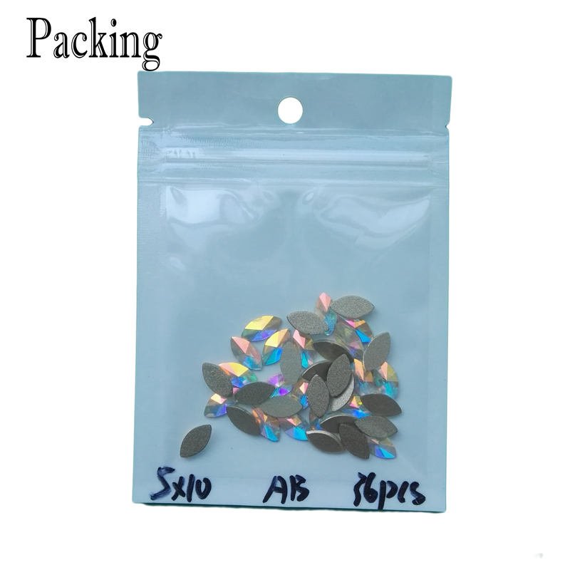 YANRUO 144pcs 4x6mm Crystal AB Rainbow Rhinestones Nail Art Crystal - Arte de uñas - foto 6
