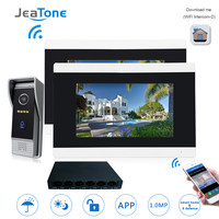 7'' Touch Screen Wireless WIFI IP Video Door Phone Video Intercom Doorbell Apartment Access Control System Motion Detection 1 2