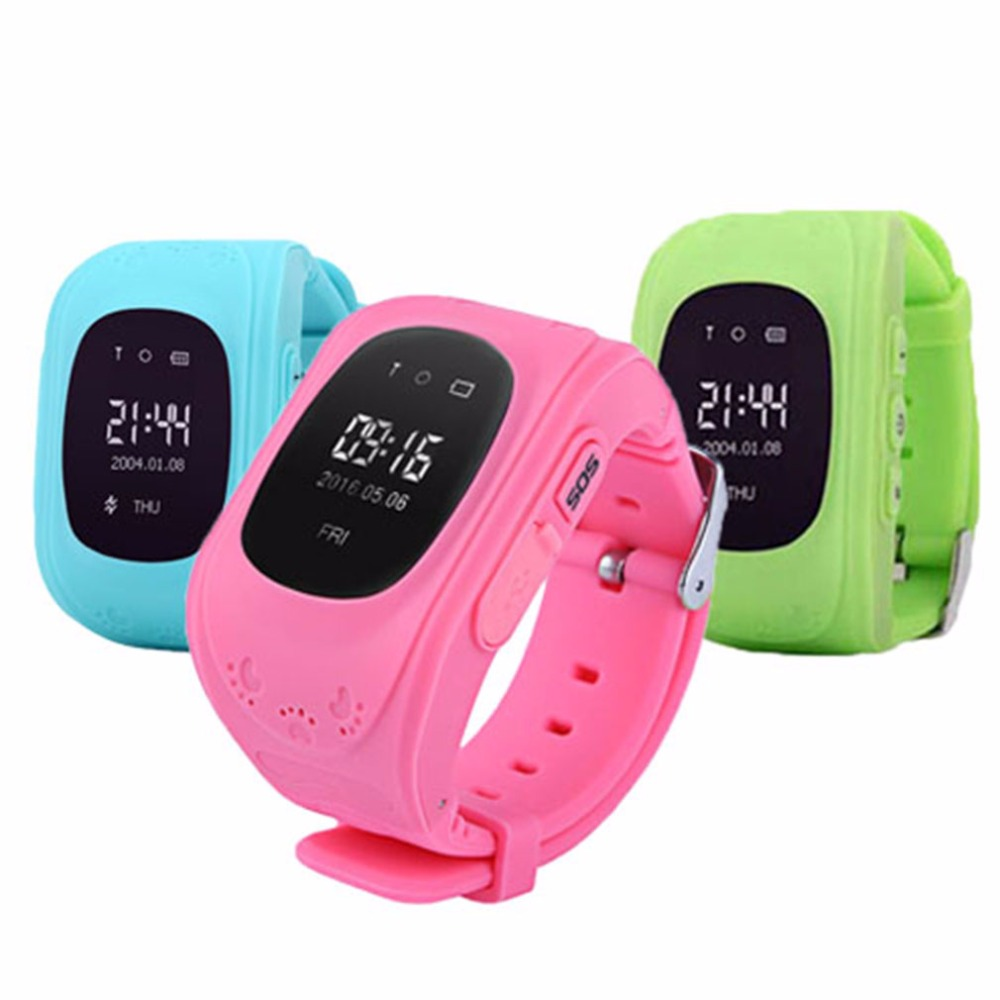 Wristwatch Boys Children Tracker Girls LCD Q50 GPS Anti-Lost for Ios Android 2G Locator