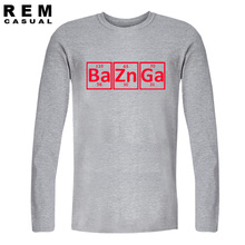 Great BAZINGA Periodic Table-style longsleeve shirt