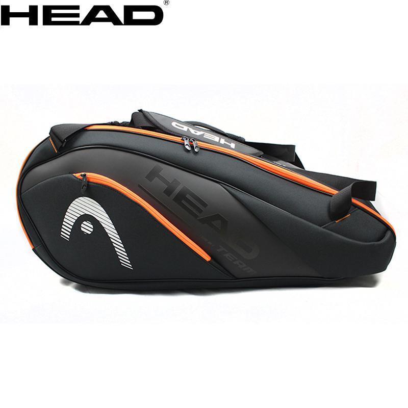 2019 New Original Head Tennis Bag Badminton Racket Bag One/double Shoulder Bag Multi-function Bag For 6-9 Rackets Skillful Manufacture