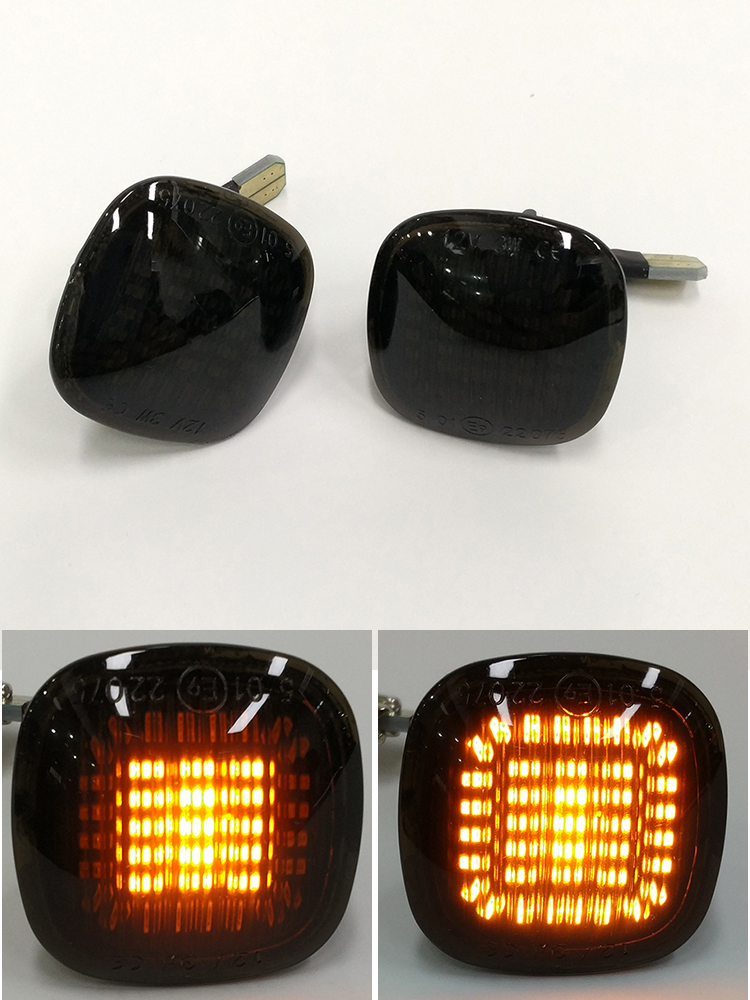 Audi style Sweeping LED indicator turn signal CLEAR Transparent Side Marker Unit