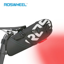 Cycling Bag Bike Rear Bags Bicycle Bag LED Tail light Seatpost Bag Bike Saddle Seat Storage Backpack MTB packet Pannier